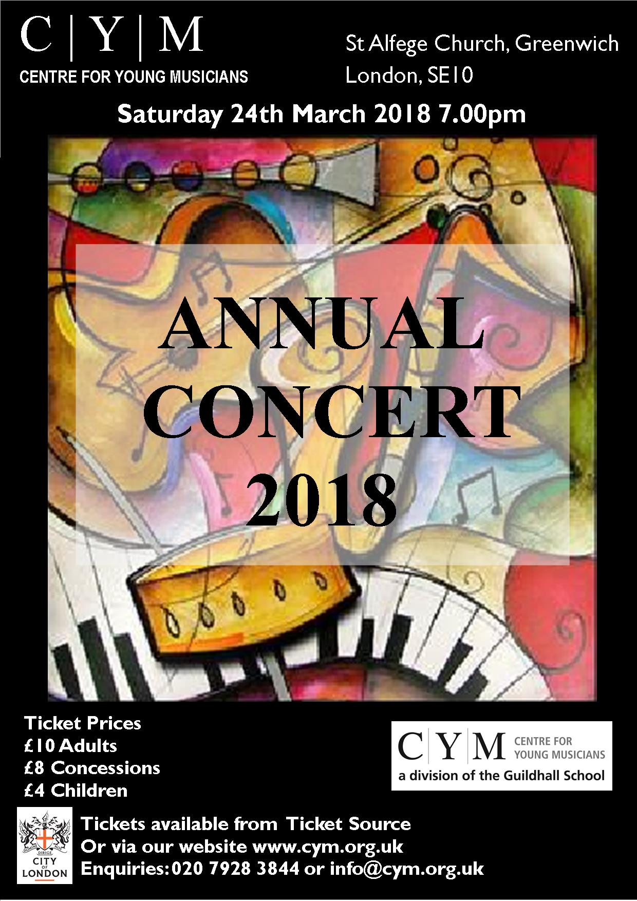 annual concert flyers 2018 centre for young musicians